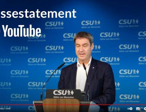 Pressestatement – Parteivorsitzender Markus Söder